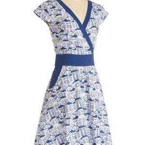 ModCloth An Enchanted Evening Dress Woodblock XL